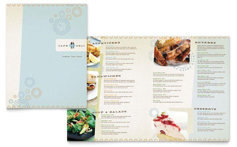 restaurant menu template word free