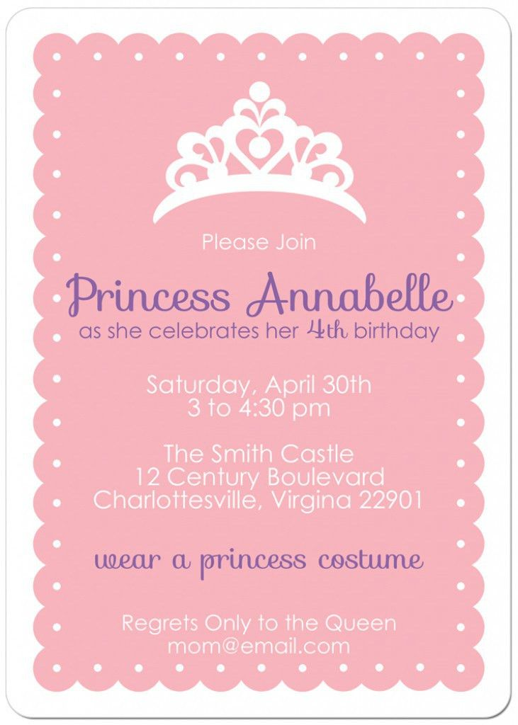Free Printable Princess Tea Party Invitations Templates 2 | Sienna ...
