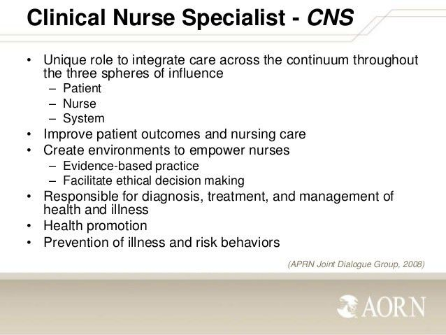 Role of the Periop Clinical Nurse Specialist
