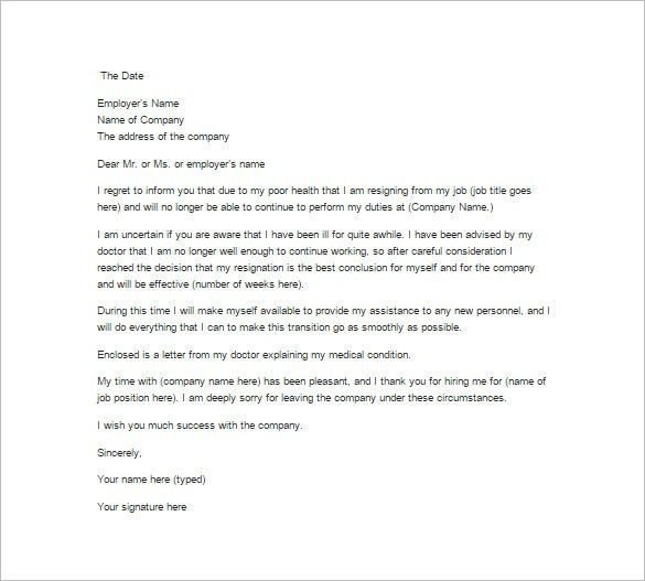 12+ Job Resignation Letter Templates – Free Sample, Example ...