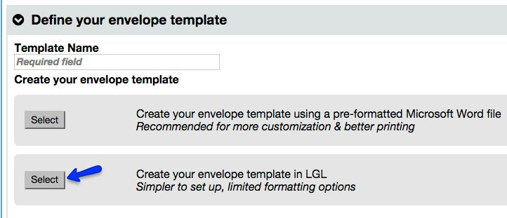Envelope Templates - Little Green Light Knowledge Base
