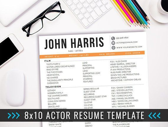 Actor Resume Template, Acting Resume Ideas, Creative Resume, Actor ...
