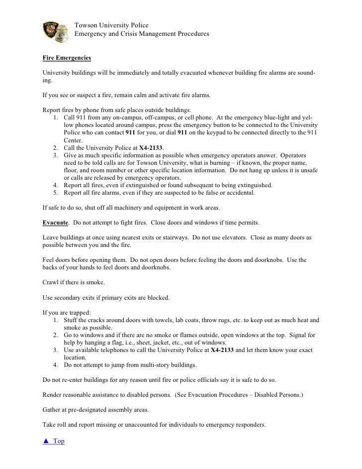 Emergency Procedures Guide