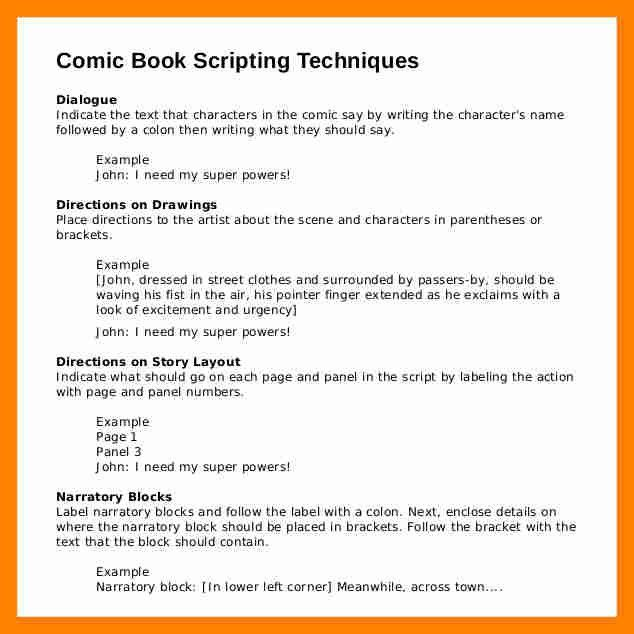 4+ script format template | resume sections