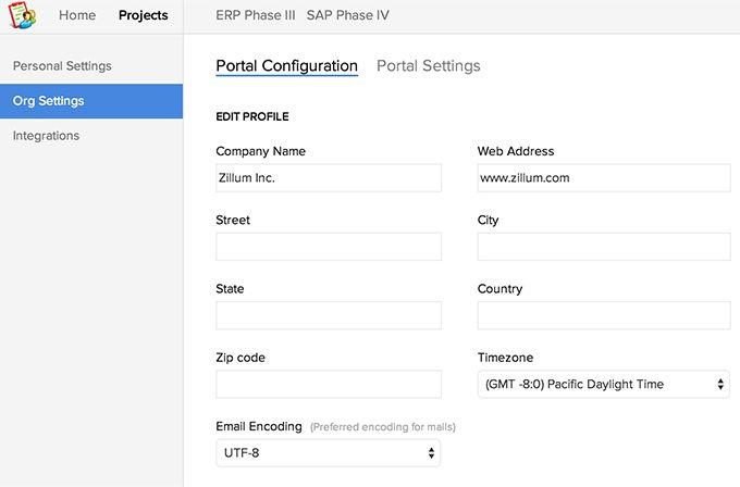 Project Customization | Company Users :Company Profile