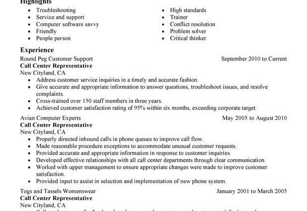 call center customer service representative resume by natalie hill ...