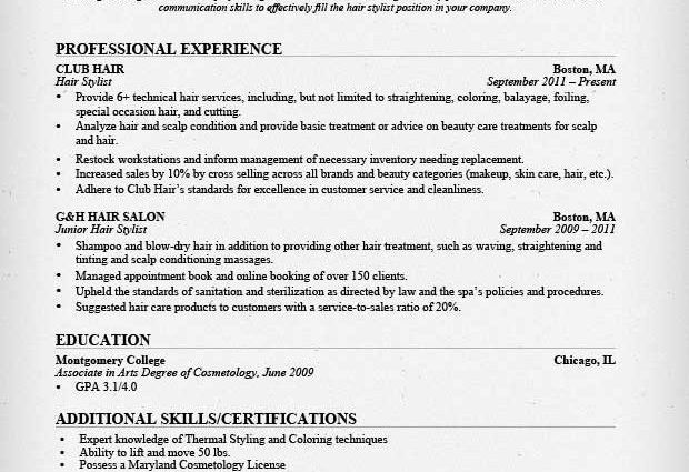 Hair Stylist Resume Example. Free Freelance Hair Stylist Resume ...
