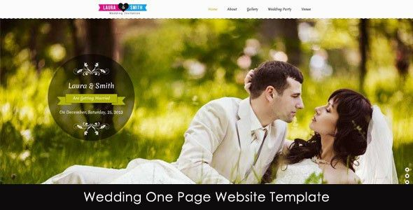 Download Wedding Single Page Website Template - NeedMyTheme.com