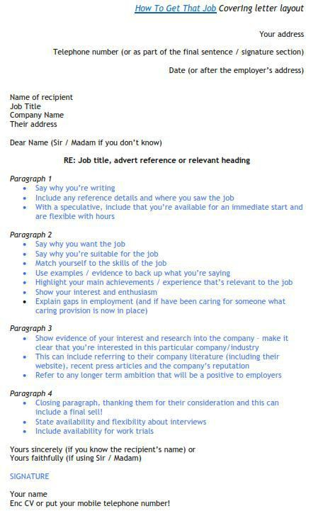 Great Cover Letter Template - How To Get A Job