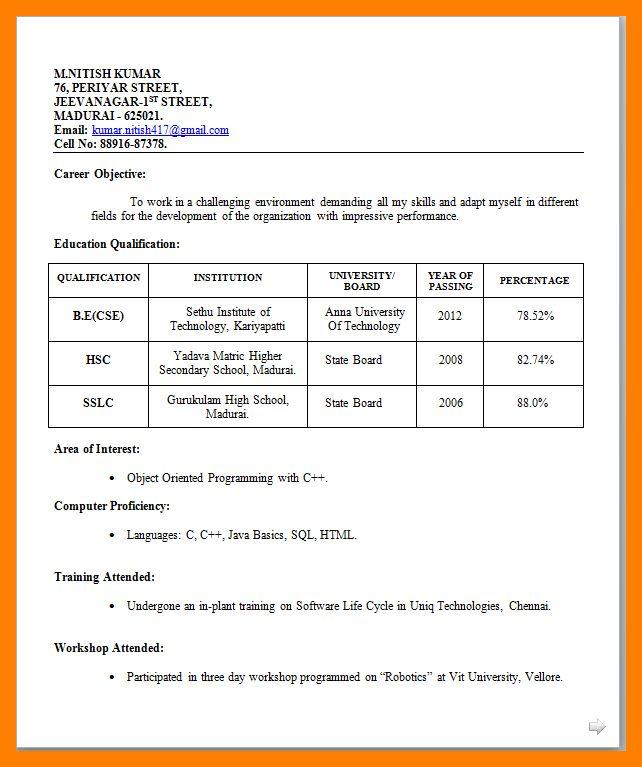 Resume Biodata Pdf Guide | Professional resumes sample online