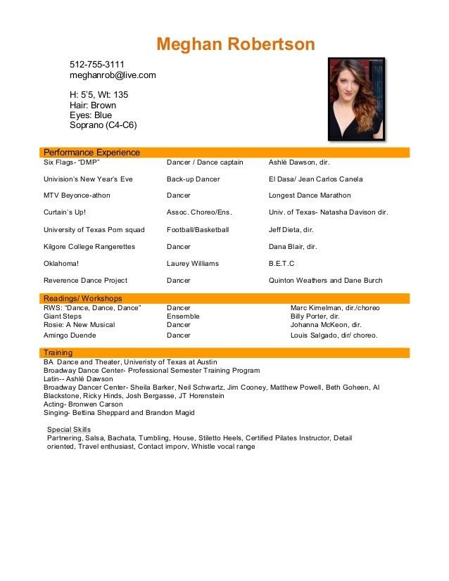 Enjoyable Inspiration Performance Resume 15 PERFORMANCE RESUME ...