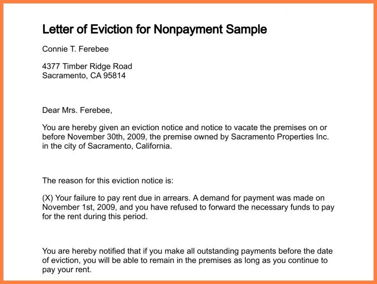 7+ eviction notice letter sample | Second Notice Letter