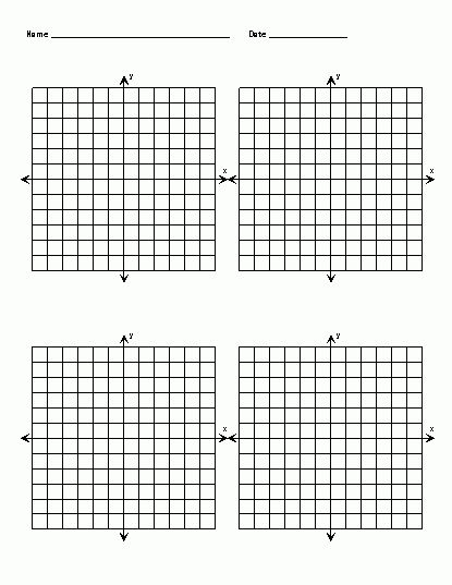 Free Printable Graph Paper With X And Y Axis | Blank Coordinate ...