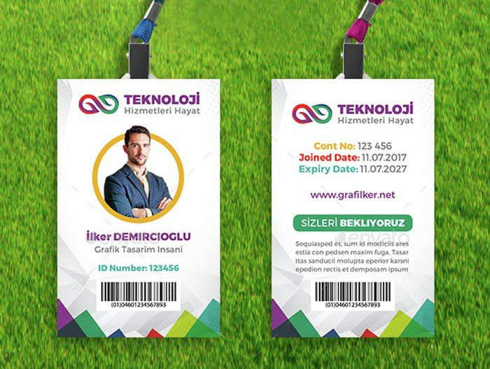 Employee-ID-Card-Template-Design | ID Badge | Pinterest | Card ...