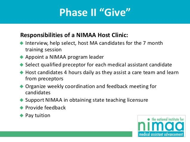 An Introduction to the National Institute for Medical Assistant Advan…