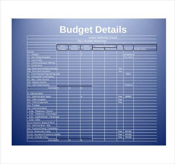 Church Budget Template – 10+ Free Word, Excel, PDF Documents ...