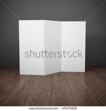 Blank Brochure Glass Holder Stock Illustration 102236152 ...