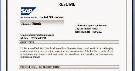 Charming Sap Sd Sample Resume 98 With Additional Resume Cover ...