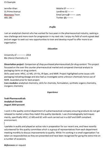 CV Advice - LiCa scientific
