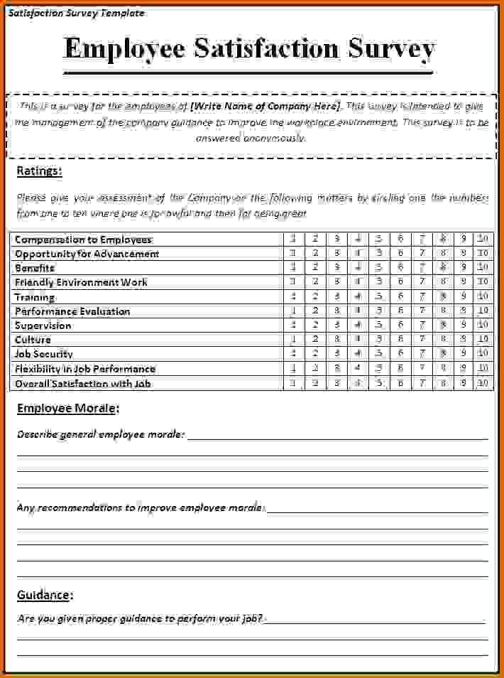 Satisfaction Survey Template. Job Satisfaction Survey Template ...