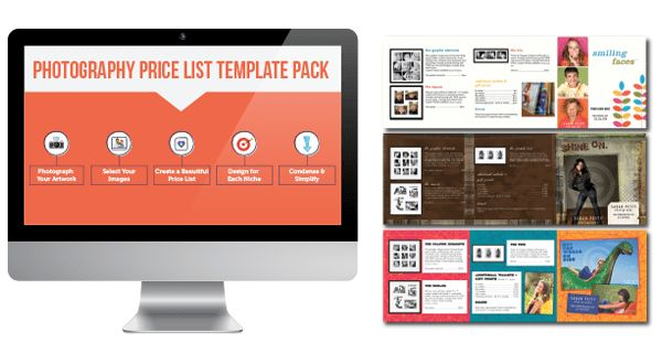 Photography Price List Template Pack : Joy of Marketing