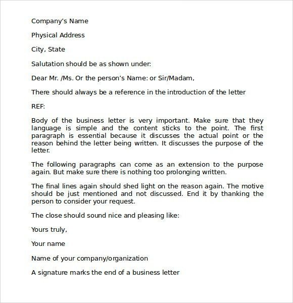 Proper Business Letter Format - 8+ Download Free Documents in PDF ...