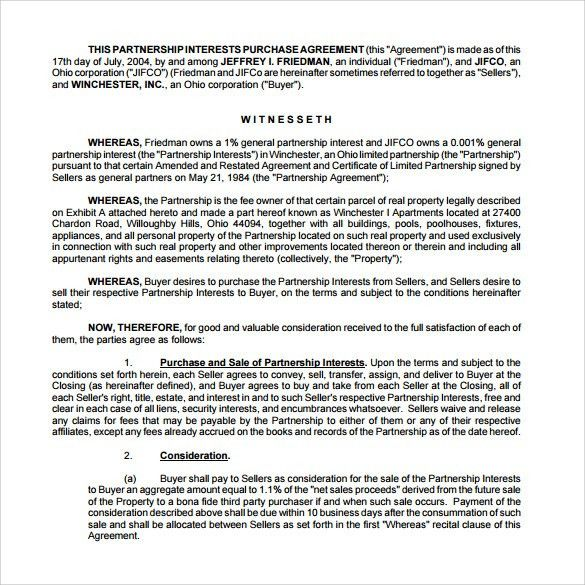 Sample Real Estate Partnership Agreement - 9+ Free Documents in ...