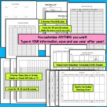 Plan Book Templates (FULLY Editable in MS Word) Create Your Own Binder