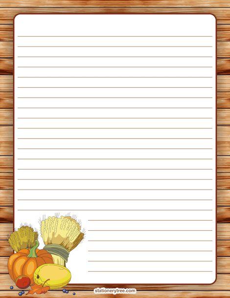Printable Thanksgiving Stationery