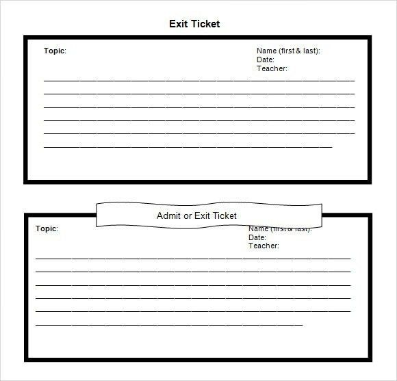 Exit Tickets Template. printable exit ticket template lesson plan ...