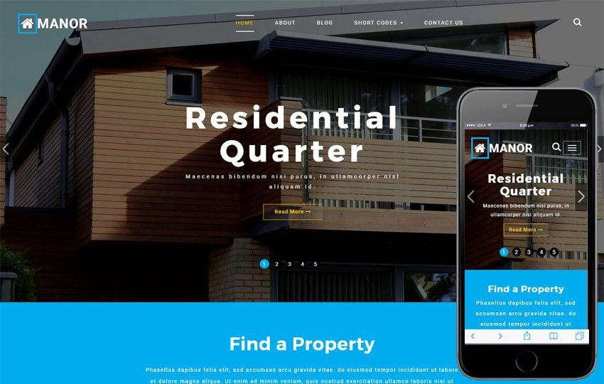 Real-estates Builders Mobile website Templates
