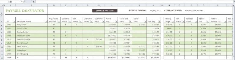 Top 5 Resources To Get Free Payroll Templates - Word Templates ...