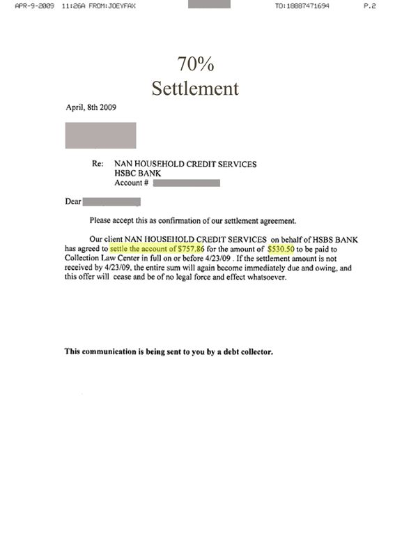Printable Sample Settlement Letter Form | Laywers Template Forms ...
