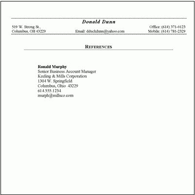 6+ list of references format | mac resume template