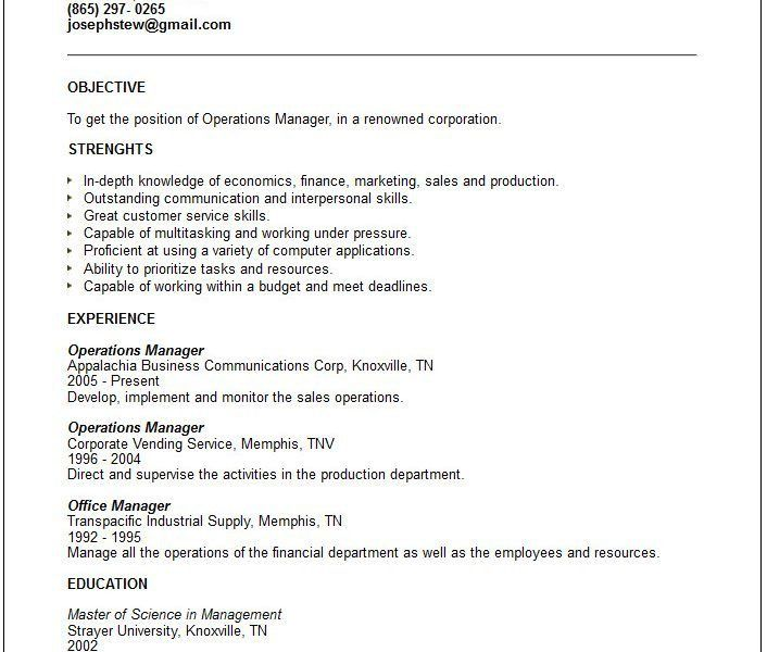 Generic Resume 13 Download Generic Resume - uxhandy.com