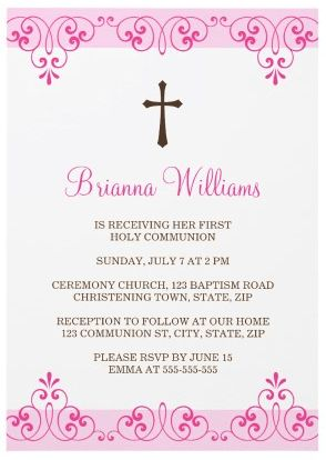 First Communion Invitations For Girls | christmanista.com