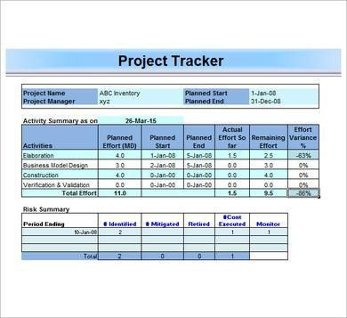 Excel Project Plan Template | eknom-jo