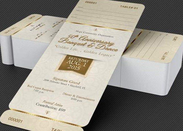Anniversary Banquet Ticket and Jacket Template | Godserv