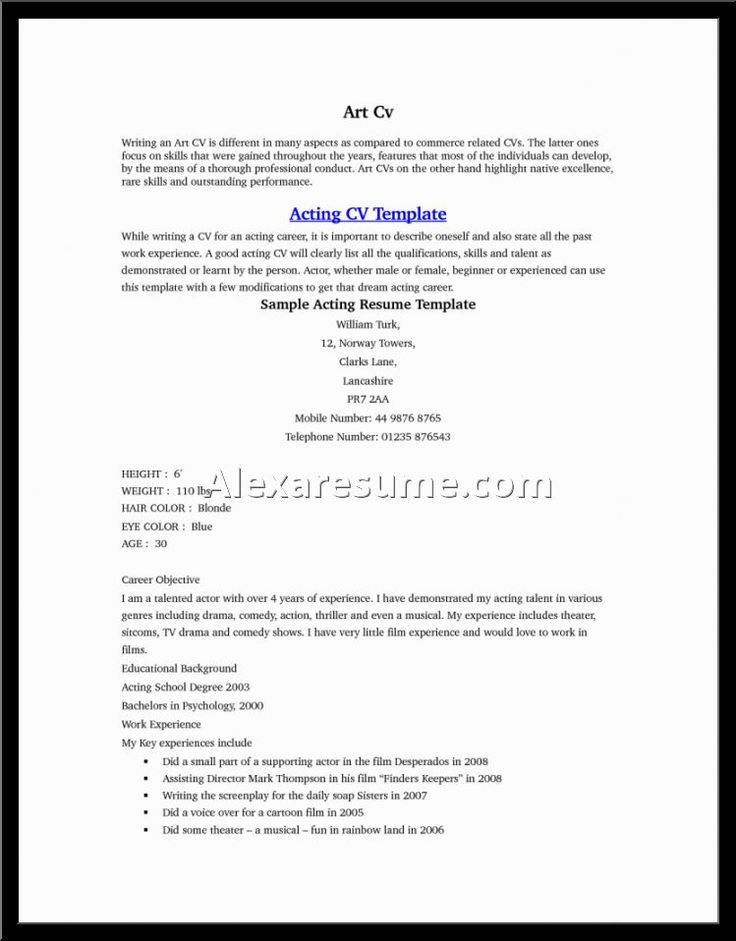 child acting resume beginner corpedocom