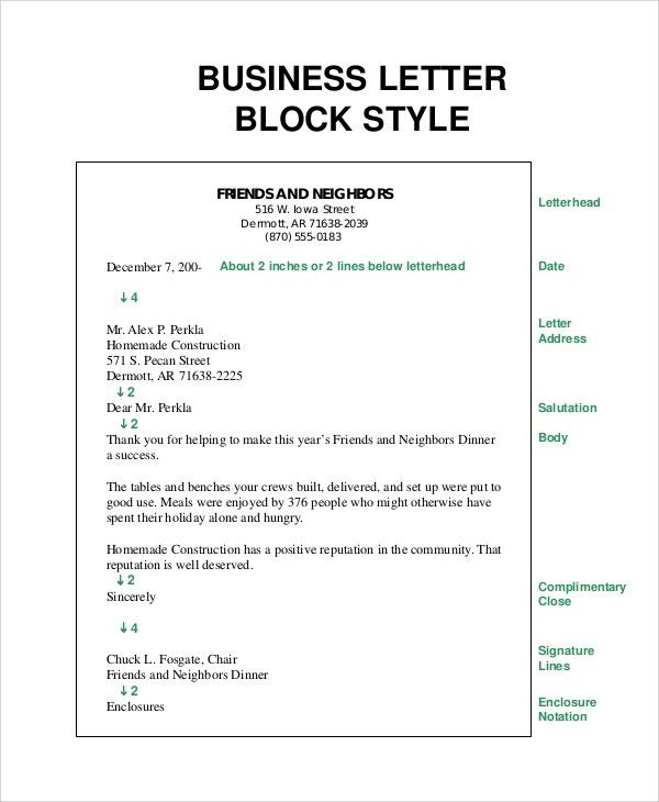 Brilliant Ideas of Examples Of Block Format Business Letters About ...