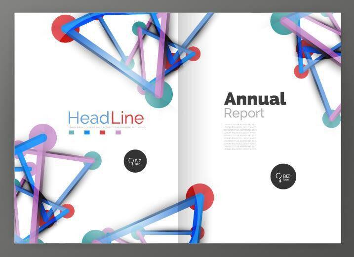 Molecule annual report brochure cover template vector 08 - Vector ...