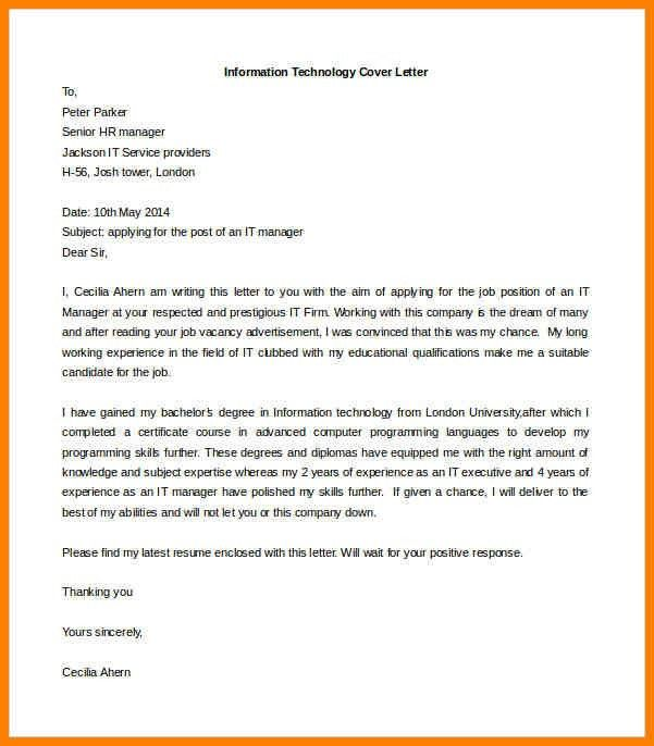 project manager cover letter sample. cover letter for resume ...
