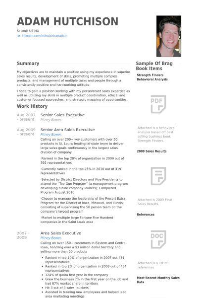 Senior Sales Executive Resume samples - VisualCV resume samples ...