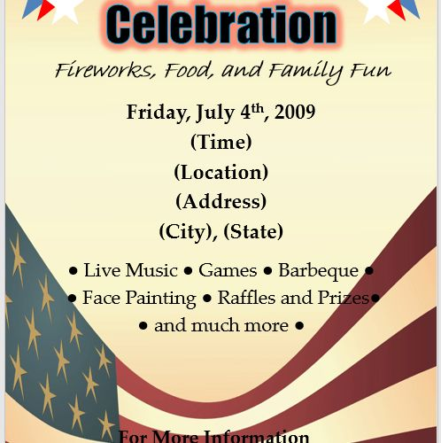 Free Flyer Designs & Templates - Printable Event and Party Flyers