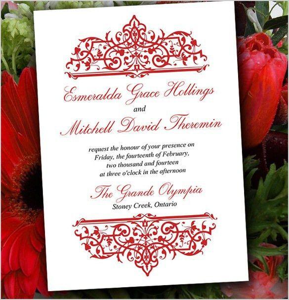 Formal Invitation Templates Free. formal wedding invitation ...