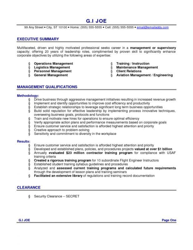 Fantastic Summary Resume Examples 8 Example Of Skills Summary For ...