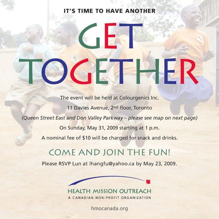 Get Together Invitation Sample | Belcantofour