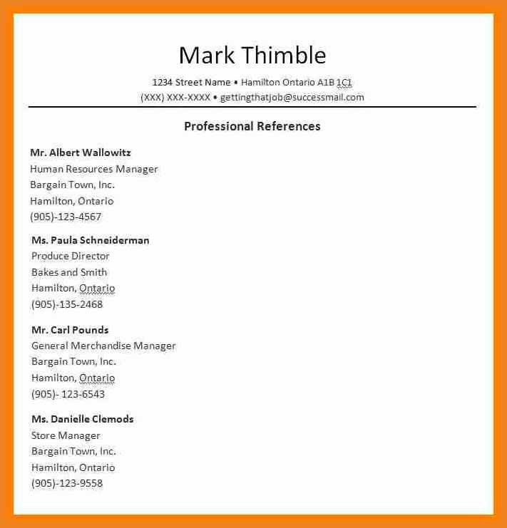 job references format | teller resume sample