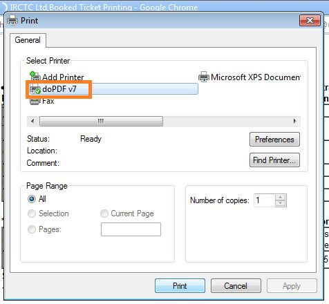 How To Save An IRCTC Ticket In PDF Format (Updated) | PC Tonic