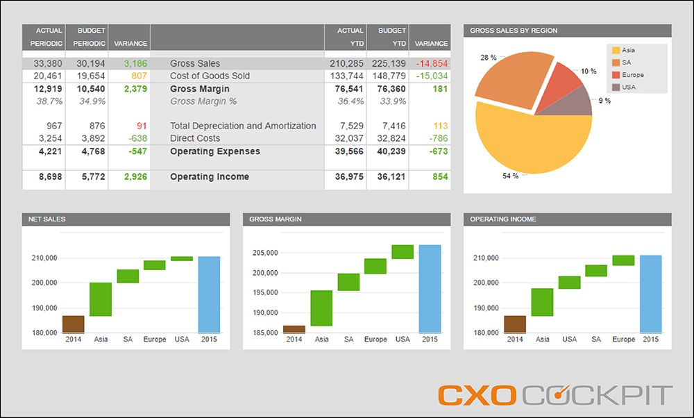 Best Practice Financial Reports CXO-Cockpit EPM Reporting